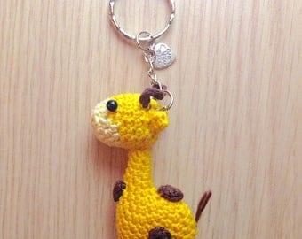 Giraffe amigurumi Keyring