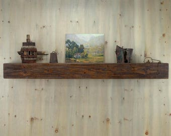 "Appalachian 60 inches Floating Rustic Mantel Shelf by 5 1/2""by 5 1/2""."