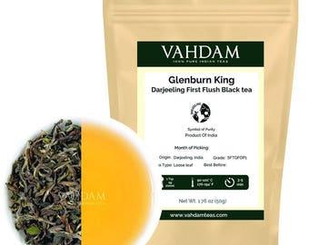 2017 Harvest, Glenburn King Darjeeling First Flush Black Tea, Direct from the Glenburn Tea Estate, Limited Edition (25 Cups), 1.76oz