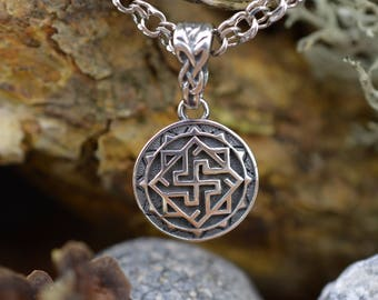 SMALL Valkyrie pendant. Valkyrie Viking Necklace. Nordic amulet. Handmade Viking jewelry. Norse jewelry. Solar amulet. Pagan pendant.