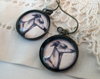 Greyhound Dog Earrings