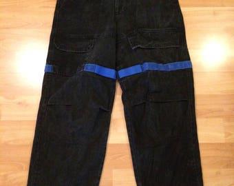 Size 34 x 32 90's Marithe Francois Girbaud men's jeans black blue 1990's hip hop pants 34 waist 32 inseam