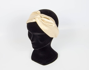 Criss-cross headband gold boho chic headband