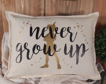 Peter Pan Pillow Disney Home Decor Disney Pillow 12 X 16 Pillow