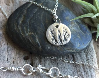 Pretty necklace/ gift for her / woodland  jewelry /fine silver pendant / necklace /sterling silver necklace