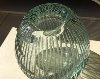 Mid Century Green Vase