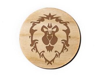 World of Warcraft: Alliance Engraved Birch Coasters