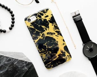 Black And Gold Marble iPhone Case iPhone 8 Case iPhone 8 Plus Case iPhone 7 Case iPhone 7 Plus Case iPhone 6s Case iPhone 6s Plus Case iPh 6