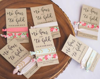 Cards ONLY - To Have & To Hold Your Hair Back | Wedding Favor | Bridesmaid Gift