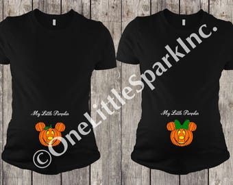 Disney pregnant shirt disney maternity shirt disney halloween shirt mickey pumpkin shirt disney halloween shirt my little pumpkin shirt