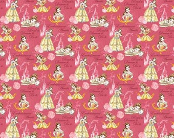 Disney Beauty and the Beast Belle Enchantment Awaits Knit by Springs Creative - cotton spandex 4 way 50% stretch 63292C470710 princess