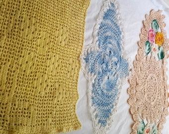 Colourful Vintage Crocket Doilies - Chaoice of three