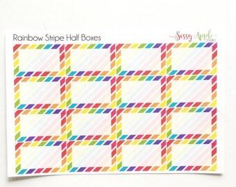 Birthday Sale Rainbow Stripe Half Box  Planner Stickers