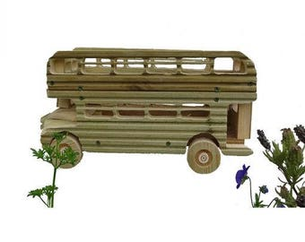 Double Decker BUS wooden Planter