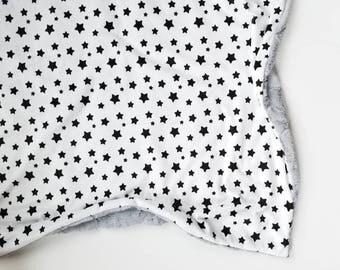 Black and White Star Blanket, Baby Blanket, Baby Girl Blanket, Baby Boy Blanket, Gender Neutral, Minky Baby Blanket, Toddler blanket, Star
