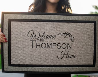 Personalized Door Mat, Welcome Doormat, Custom Doormat, Personalized Doormat, Custom Welcome Mat, Front Door Mat, Family Door Mat,