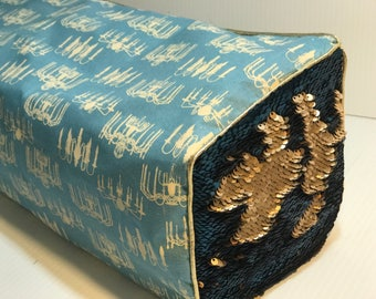 New! Cricut Maker and Cricut Explore/ Air/ Air 2/ One Custom Handmade Dust Cover Blue/Gold Chandelier w/ reversible sequins