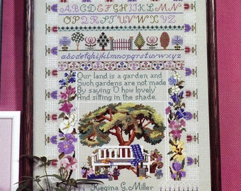 Ginger & Spice Gardener's Sampler Cross Stitch Kit Garden