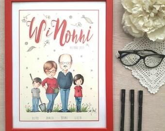 RITRATTO PER I NONNI/ Granmather,granfather portrait, Parent