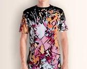 Abstract, Mens Shirt, All Over, Colorful, Emotions, Shirt, Tshirt, Dress, Graphic Tee, Men T-shirt, Clothing