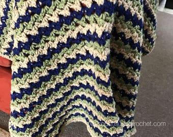 Three Color Baby Blanket Crochet Pattern / Baby Blanket Crochet Pattern / Baby Crochet / Baby Blanket / Striped Baby Blanket / Stripes