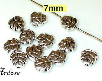 12 beads 7mm Tibet Silver (K103. 7.9)