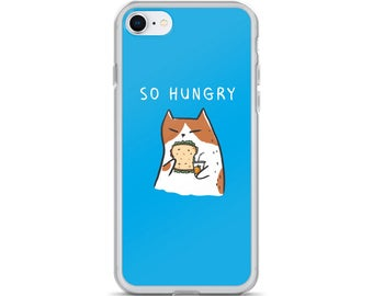So Hungry Cat iPhone Case