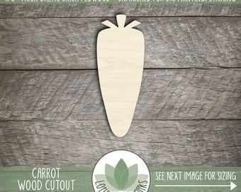 Carrot Wood Cutout Shape, Wooden Carrot, Wood Vegetable Shapes, Unfinished Wood Shapes For DIY Projects, Wood Vegetable Cutouts
