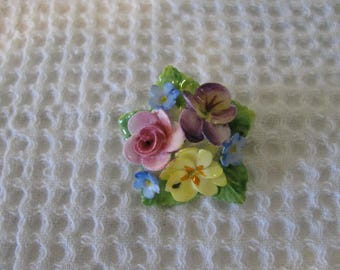 Artone Bone China Brooch, Flower Pin