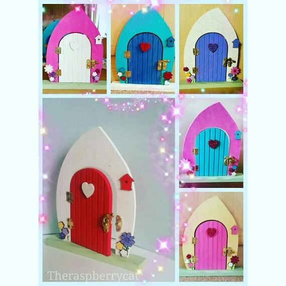 Items similar to fairy doors red fairy door bedroom for Fairy door for bedroom