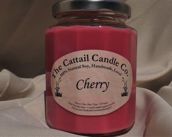 Cherry - 100% Soy Candle, 12 fl oz