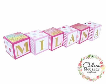 Baby Blocks - Personalized Baby Blocks - Custom Baby Blocks - Baby Name Blocks - Name Blocks - Wooden Blocks - Baby Shower, Baby Shower Gift