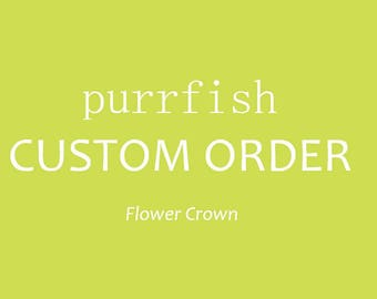 Custom Flower Crown: Joanna
