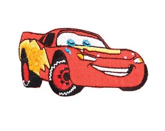 Cars McQueen Iron On Applique, Genuine Disney Iron On Patch, Cars Patch, Cartoon Patch, Kids Patch (350746)