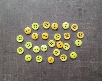 80 buttons 8 mm yellow shade