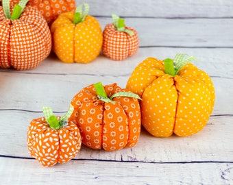 Handmade Fabric Pumpkin, Thanksgiving Table Decoration, Fall Autumn Décor, Halloween Ornament, Thanksgiving Gift, Harvest Ornament