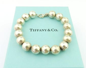 Authentic TIFFANY & CO Sterling Silver Bead Bracelet