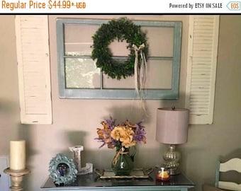 On sale 6 pane window wood window pane wreath hanger for Wood windows for sale online