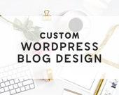 Custom Wordpress Blog Design - Custom Wordpress Theme - Custom Wordpress Design