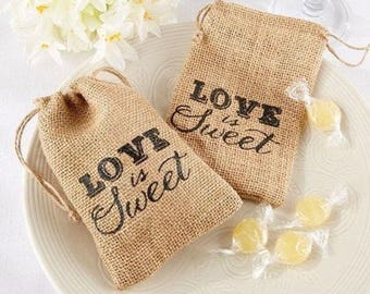 Love Is Sweet Burlap Bag
