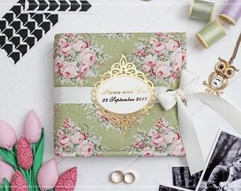 Personalized Wedding Album, Bridal Shower Guest Book, 4x6 Photo Album, Instax Guest Book, Picture Album, 5x7 Photo Album, Custom Photo Book