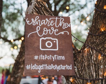 Hashtag wedding sign