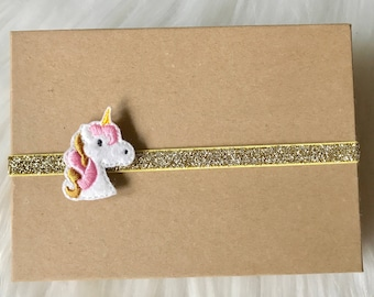 Unicorn Headband, Unicorn Baby Headband, Unicorn Hair Bow, Baby Headband, Baby Girl Headband, Infant Headband, Newborn Headband, Headband