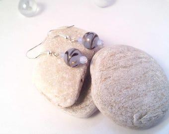 Blue night Silver earrings