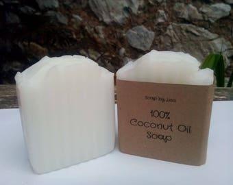 100% Coconut Oil Soap Unscented Vegan Sensitive Skin 150mg