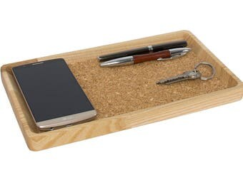 Valet tray, Desk gift for him, Desk organizer tray, Desk tray, Wallet tray, Phone tray, Desk accessories men, Coworker gifts