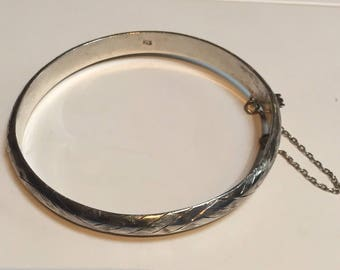 """925 Silver Bangle Bracelet - 2 1/4"""""""