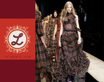 Dolce and Gabbana, Silk Tartan Plaid
