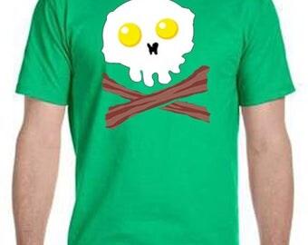 Bacon and Egg skull T-Shirt