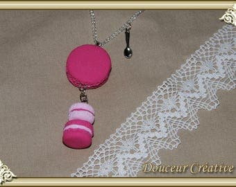 Pink macaroon necklace 103001